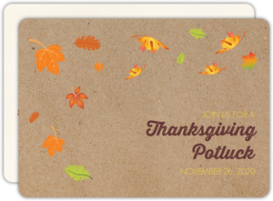 Colorful Leaves Thanksgiving Invitation Invitation
