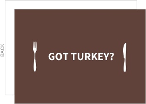 Got Turkey Dinner Invitation