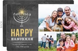 Black Chalkboard Hanukkah Card