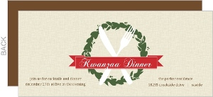 Festive Wreath And Banner Kwanzaa Invitation