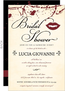 Vampire Bridal Shower Set Halloween Party Invitation