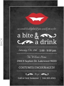 Vampire Chalkboard Halloween Party Invitation