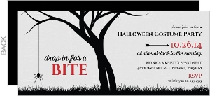 Black And Red Spider Halloween Party Invitation