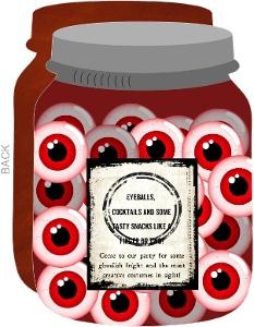 Eye See You Halloween Party Jar Invitation - 4808