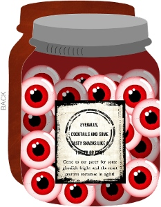Eye See You Halloween Party Jar Invitation