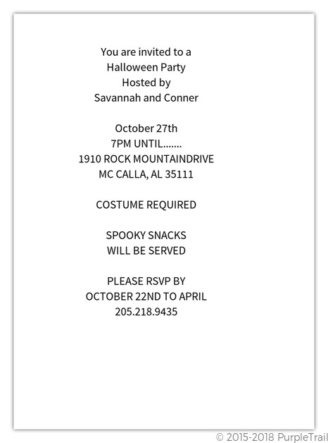 Halloween Party Invitations – Halloween Party Invitation