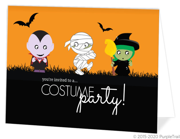 monster kids halloween party invitation - Kids Halloween Party Invite