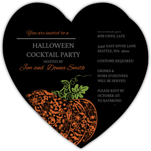 Spooky Pumpkin Halloween Party Invite