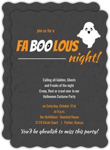 Orange Faboolous Night Halloween