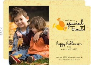 Autumn Leaves Special Treat  Halloween Card