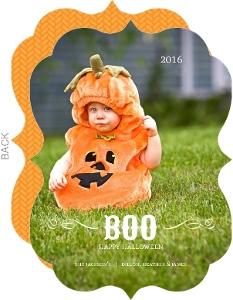 Candy Corn Stripes Halloween Card