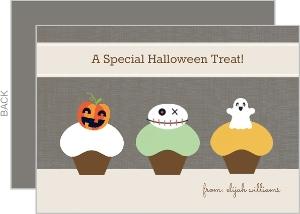 Spooky Cupcakes Halloween Card