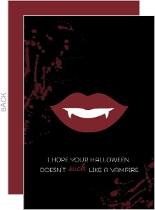 Funny Vampire Halloween Greeting Card