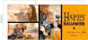 Spider Web Photo Postcard Halloween Card