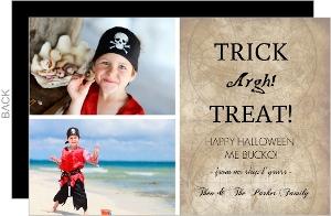 Trick Argh Treat  set  Halloween Card