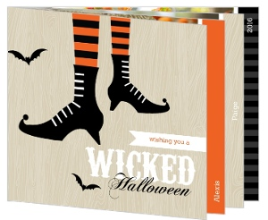 Wicked Witches Feet  Halloween Card