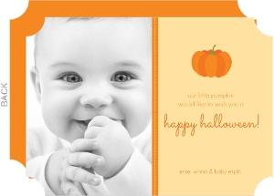 Our Little Pumpkin Halloween Photo Card