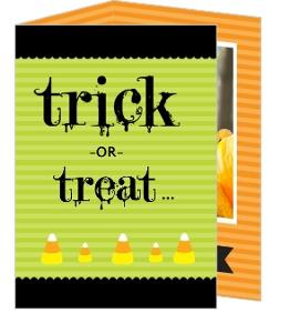 Orange and Green Candy Halloween Halloween Card