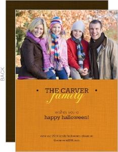 Harvest Family Photo Halloween Card