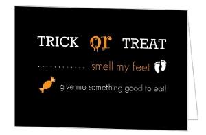 Black Trick or Treat Halloween Card