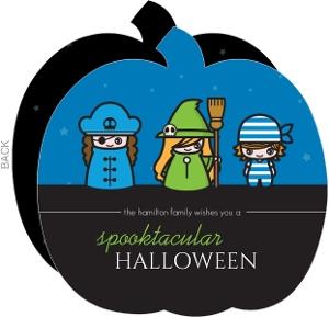 Spooktacular Kids Costumes Halloween Card
