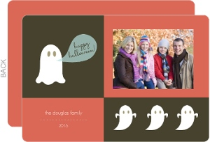 Ghastly Ghosts Halloween Photo Card