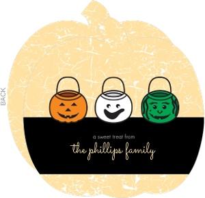 Sweet Treat Pumpkin Pails Halloween Card