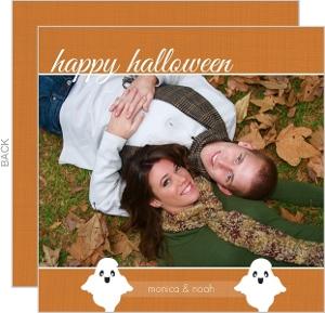 Orange Happy Halloween Photo Card