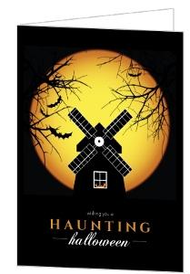 Spooky Windmill Halloween Card