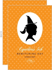 Bewitching Silhouette Halloween Birthday Invitation