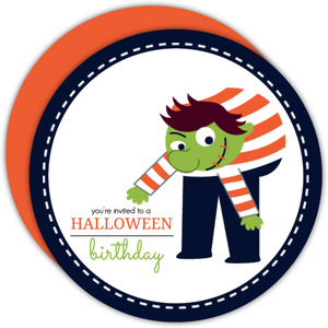 Hunchback Halloween Birthday Invitation