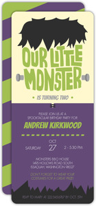 Monsterous Bash Halloween Birthday Invitation