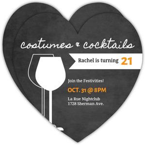 Spooky Cocktails Halloween Birthday Invitation