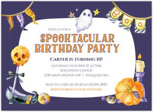 Monster Bash Halloween Birthday Party Invitaiton