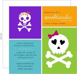Spooktacular Sleepover Halloween Birthday Party Invite
