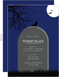 Headstone Halloween 40Th Birthday Invitation