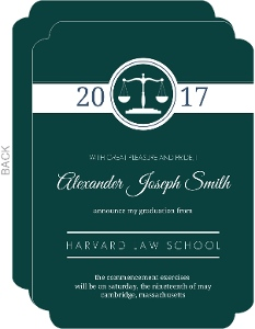 Blue Law Scales Law School Graduation