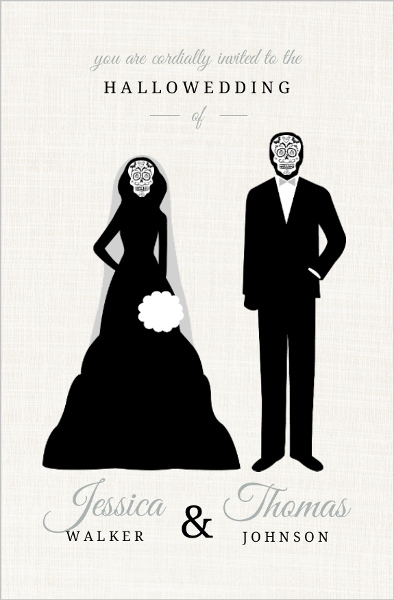Halloween Wedding Invitations | purplemoon.co
