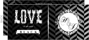 Love is the New Black  set  Halloween Wedding Invitations