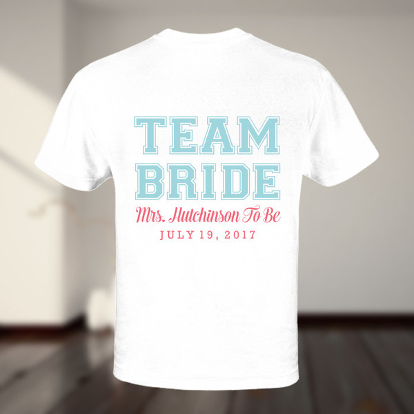 Team Bride Custom Tshirt
