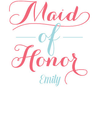 Team Bride Maid of Honor Custom Tshirt