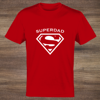 Red Superdad Custom Tshirt