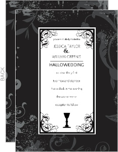 Adult Sophisticated Halloween Wedding Invitation