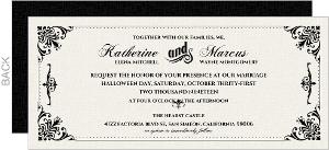Black and White Victorian Wedding Invitation