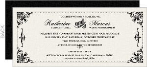 Black and White Victorian Wedding Invitation