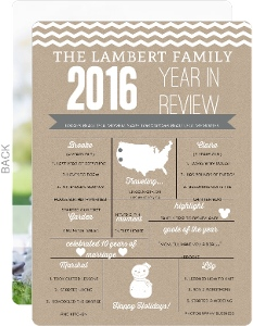 Family Year In Review Holiday Card