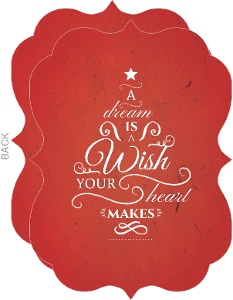 Red Typography Tree Christmas Card