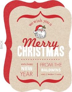 Modern Rustic Christmas Card
