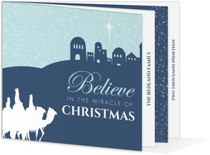 Navy Three Wisemen Christmas Card