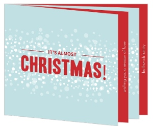 Snowy Christmas Booklet Card